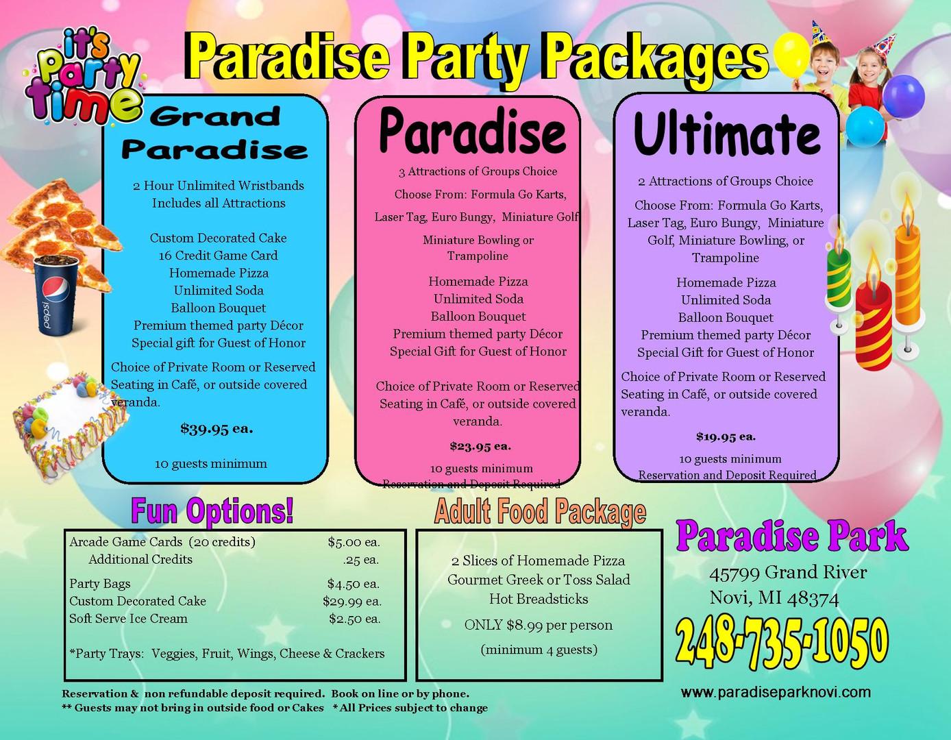 Paradise Park Party Flyer