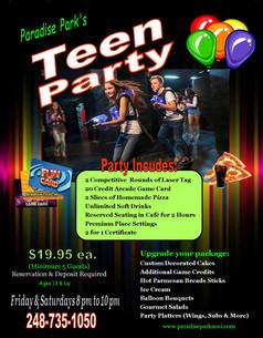 Teen Party Flyer
