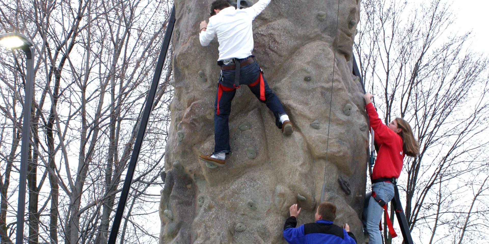 kids on Climbing Wall