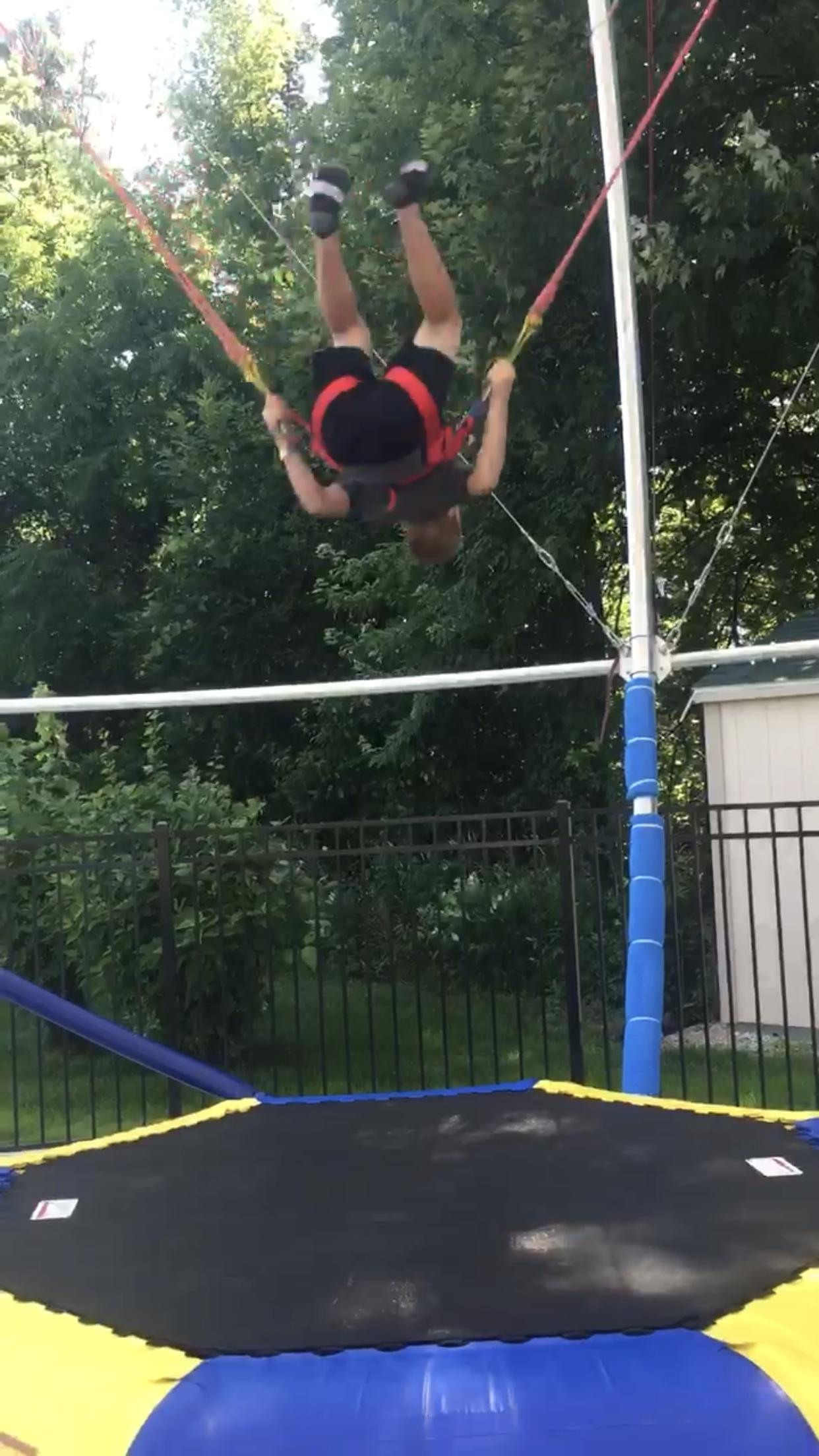 Euro Bungy, kid doing flips