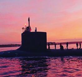 Thames River Submarine Sunsets
