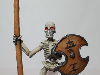 The Process of Painting Skeleton Spearman
