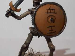 The Results of Painting Skeleton Swordsman