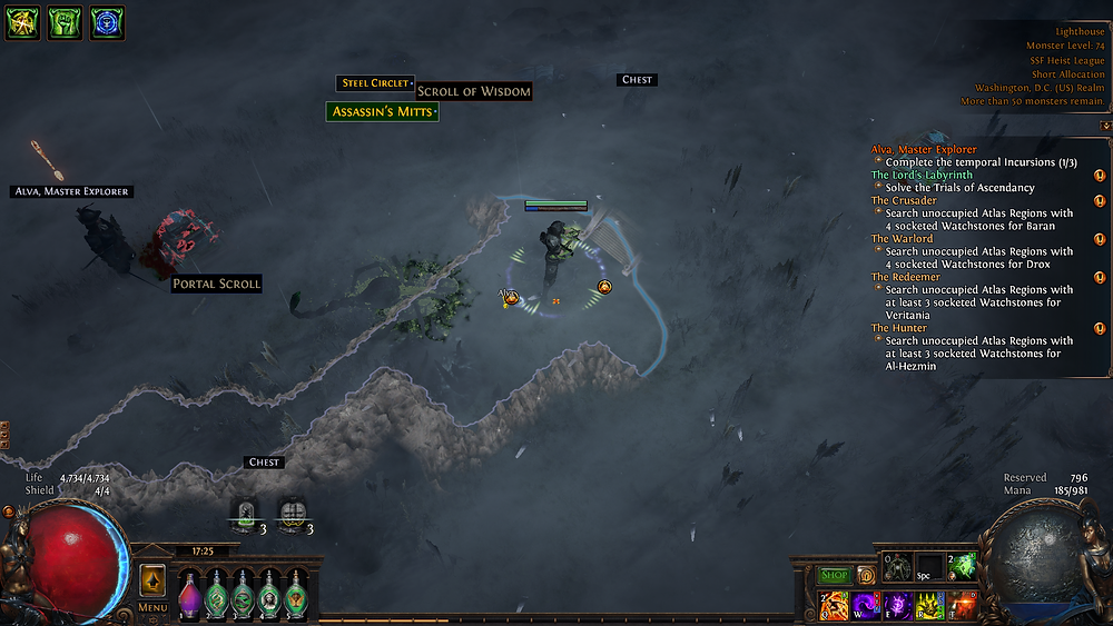 If you notice the minimap, Alva the time-traveling explorer is about to meet herself