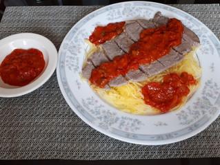 Spaghetti Squash and Spicy Sauce