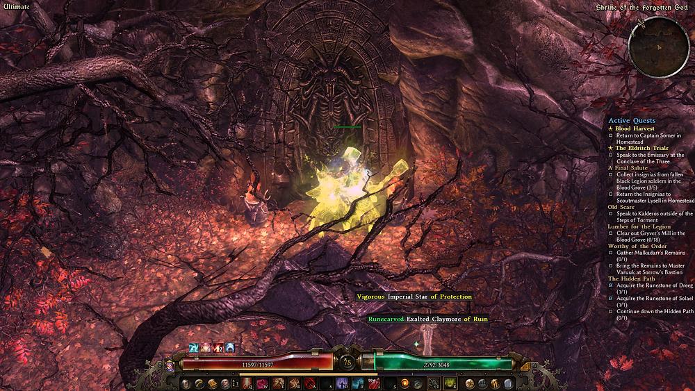 I wonder if this shrine to the forgotten god was in the game prior to the Forgotten Gods expansion