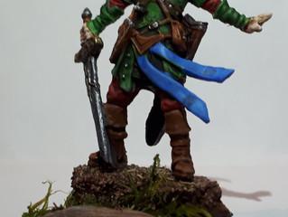 The Process of Painting Arael, Half Elf Cleric