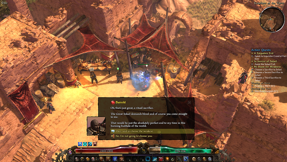 Everyone hates Harold; that guy at next to my quest ticker even joins in on attacking him!