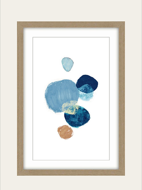 Cuadro Circulos Azules 35x50
