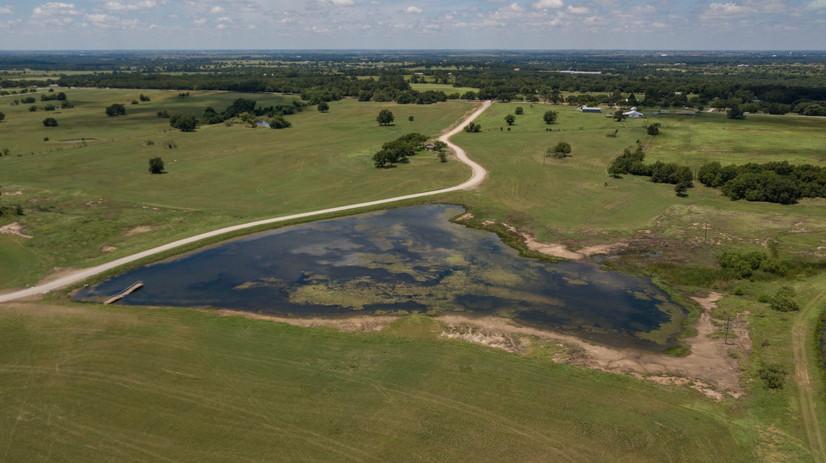 Stocked pond on Oak Creek Ranch