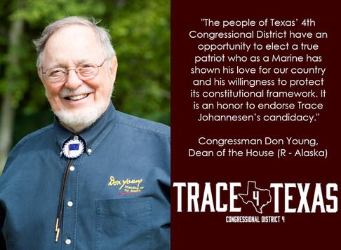 Dean of Congress Don Young Endorses Trace