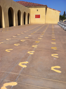 Yellow footprints, first steps as a marine