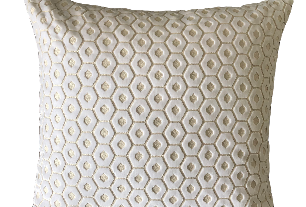Cream Geometric Pillow