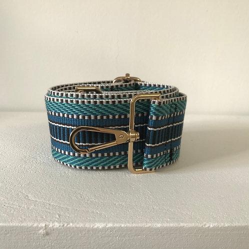 """2"""" Aztec Blue Bag Strap"""