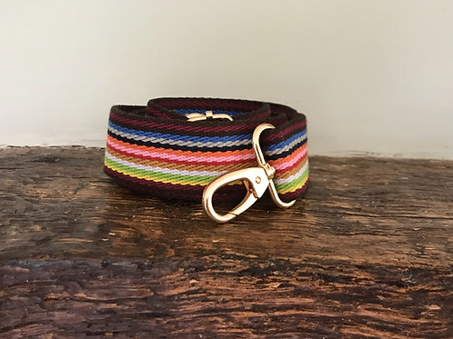 12 Stripe Rainbow Webbed Crossbody Bag Strap