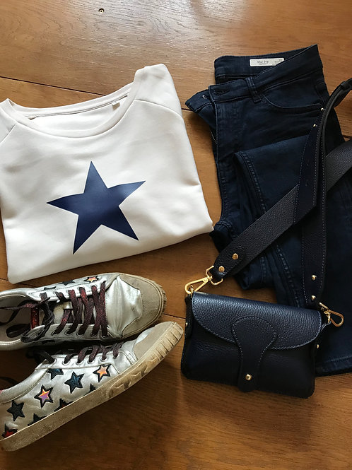 Navy Star Organic Cotton Sweatshirt