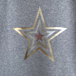 Grey metallic star Sweatshirt (standard fit)
