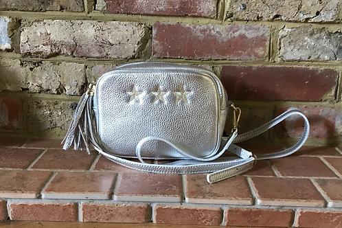 Metallic 3 Star Crossbody Bag