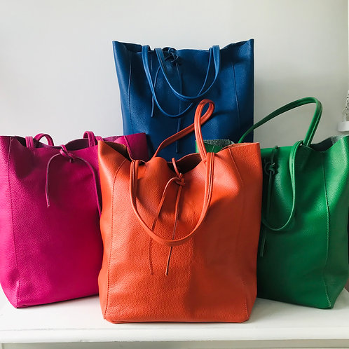 FLORENCE Soft Leather Tote Bag