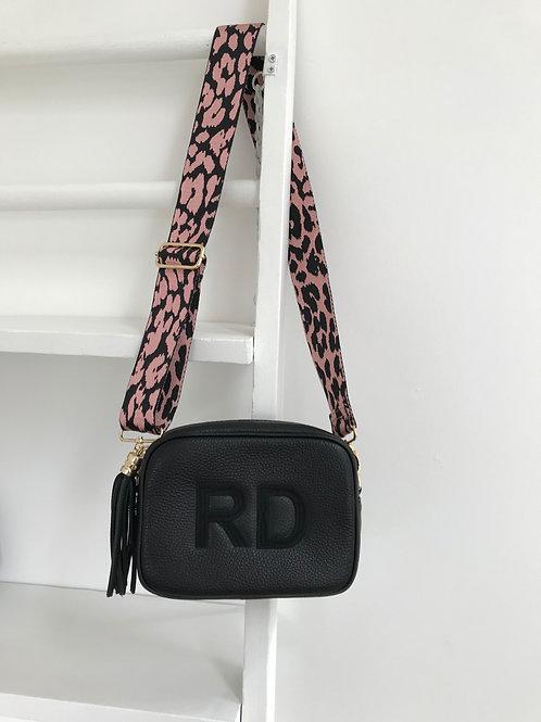 "2"" Pink and Black Animal Print Bag Strap"