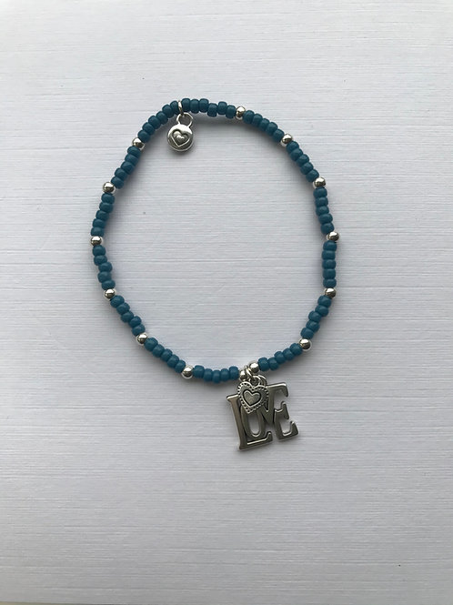 Sent with Love Bracelet - Steel Blue