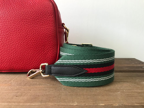 Red, Green and Black Stripe Strap