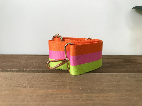 """2"""" Orange, pink and Lime Green Strap"""