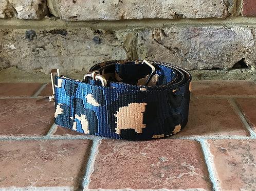 "2"" Navy/Black/light tan Camo Bag Strap"