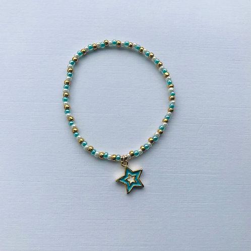 Pearly Waters Bracelet  - Aqua Star