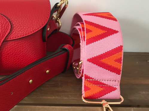 """2"""" Pink, Red and Orange Triangle Strap"""