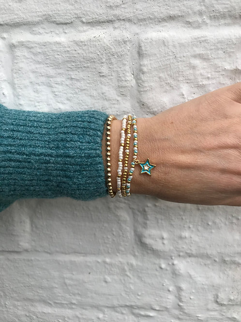 Pearly Waters Bracelet Set - Aqua Star