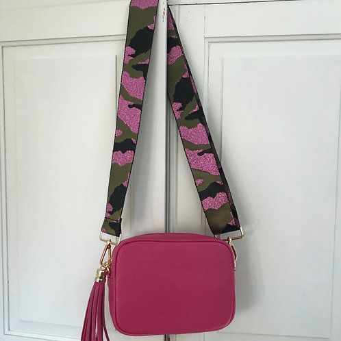 "2"" Pink and Green Camo Bag Strap"
