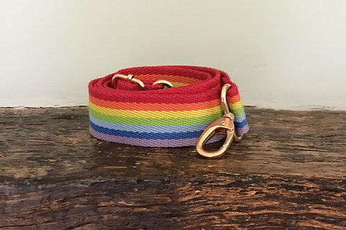 7 Stripe Rainbow Canvas Crossbody Bag Strap
