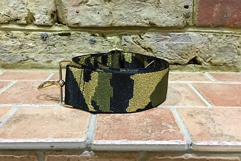 "2"" Green Camo/Metallic Gold Bag Strap"