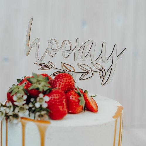 """Cake Topper """"Hooray"""""""