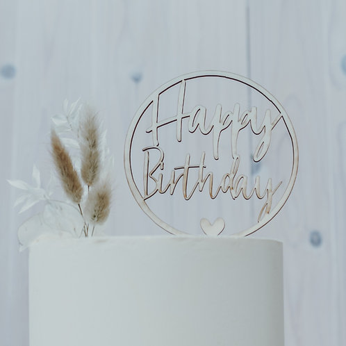 "Cake Topper ""Happy Birthday"""