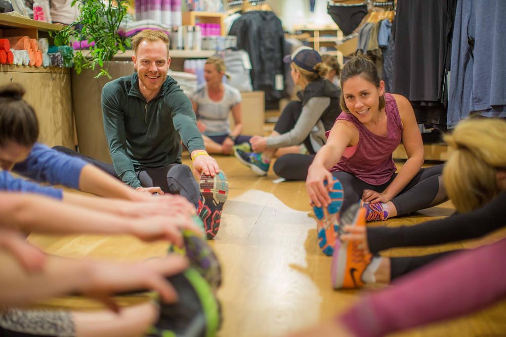 Perth Run Collective Run Leaders, Dusty Allen & Sophie Martinovich. Image Courtesy: HBF Health