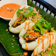 Beef Rendang Bao Buns with Sriracha Mayo