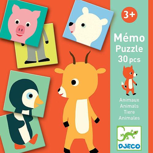 MEMÓRIA ANIMAL-PUZZLE DJECO