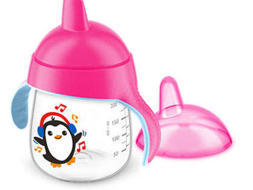 COPO PINGUIM AVENT 260ML ROSA