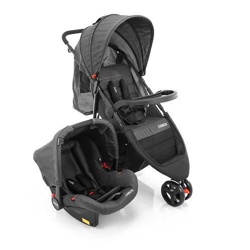 TRAVEL SYSTEM JETTY DUO COSCO PRETO