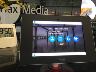 Great News! - Fairfax Media's new Visitor Management Solution.