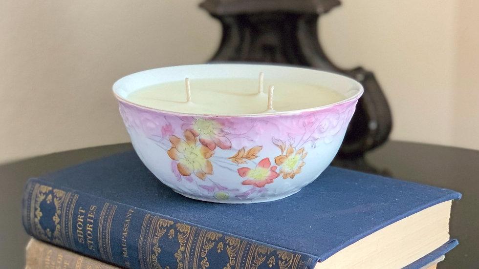 White and Pink Floral Bowl - Summer Splash