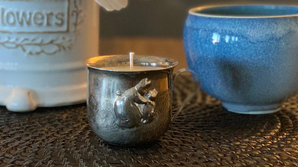 Vintage Silver Peter Rabbit Child's Cup - Raspberry Sangria