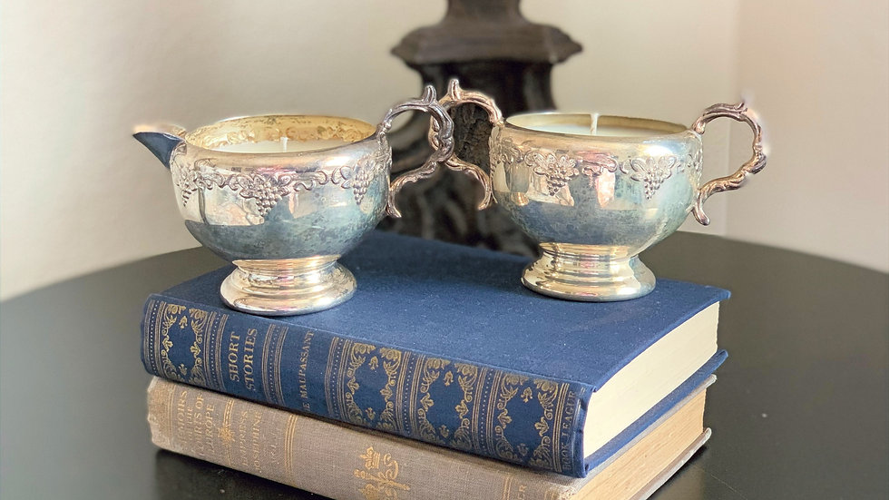 Viking Plate Antique Grapevine Cream & Sugar - Rosemary Eucalyptus