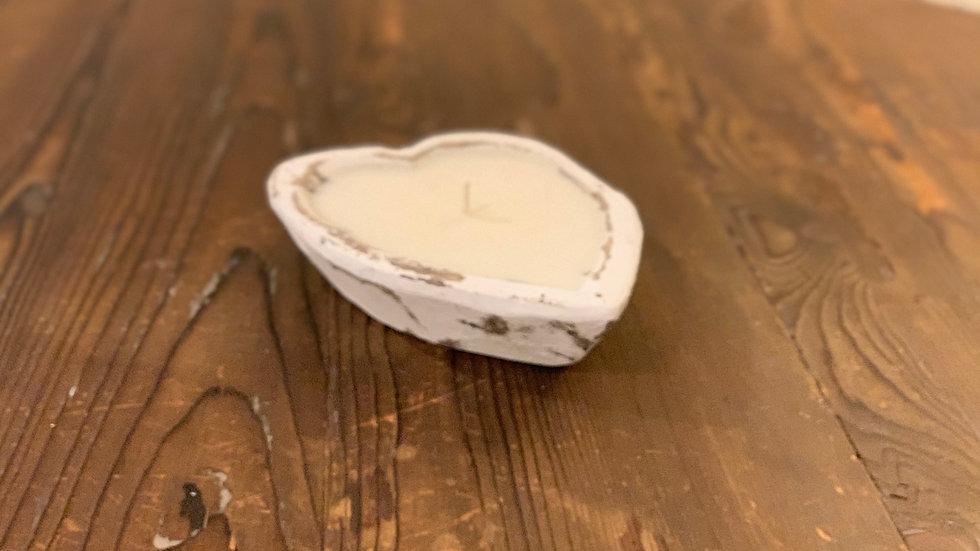 Heart-Shaped Wood Dough Bowl