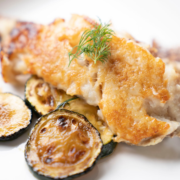 鱈のバターグリル ズッキーニ添え