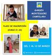 Abierto plazo para la solicitud de matrícula en el Garden Montessori