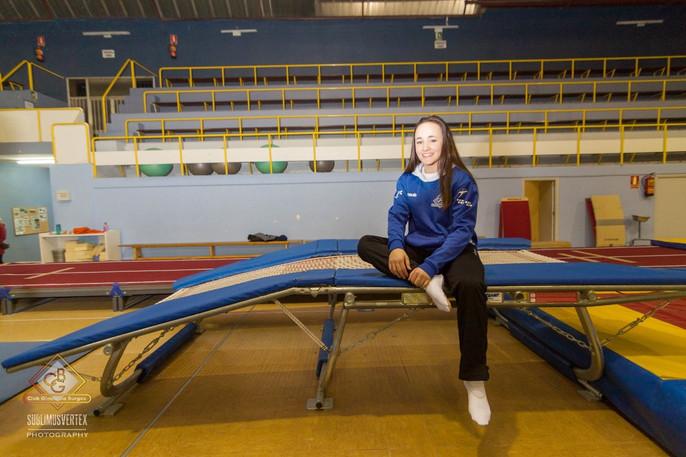La alumna de Secundaria, Andrea Martínez, participa en el Europeo Júnior de Gimnasia