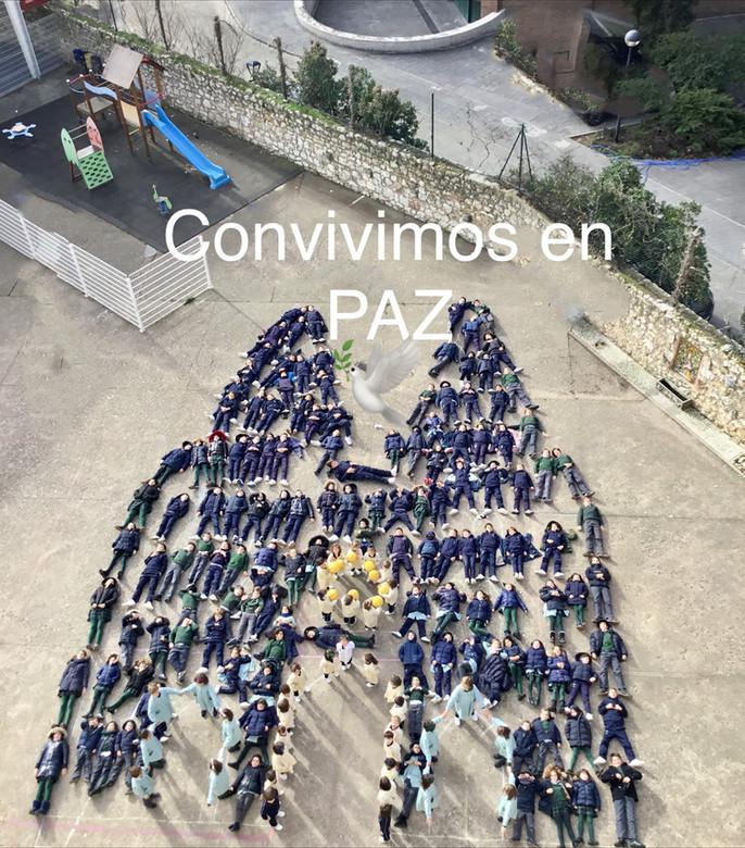 Los alumnos de Campolara celebran el día de la Paz